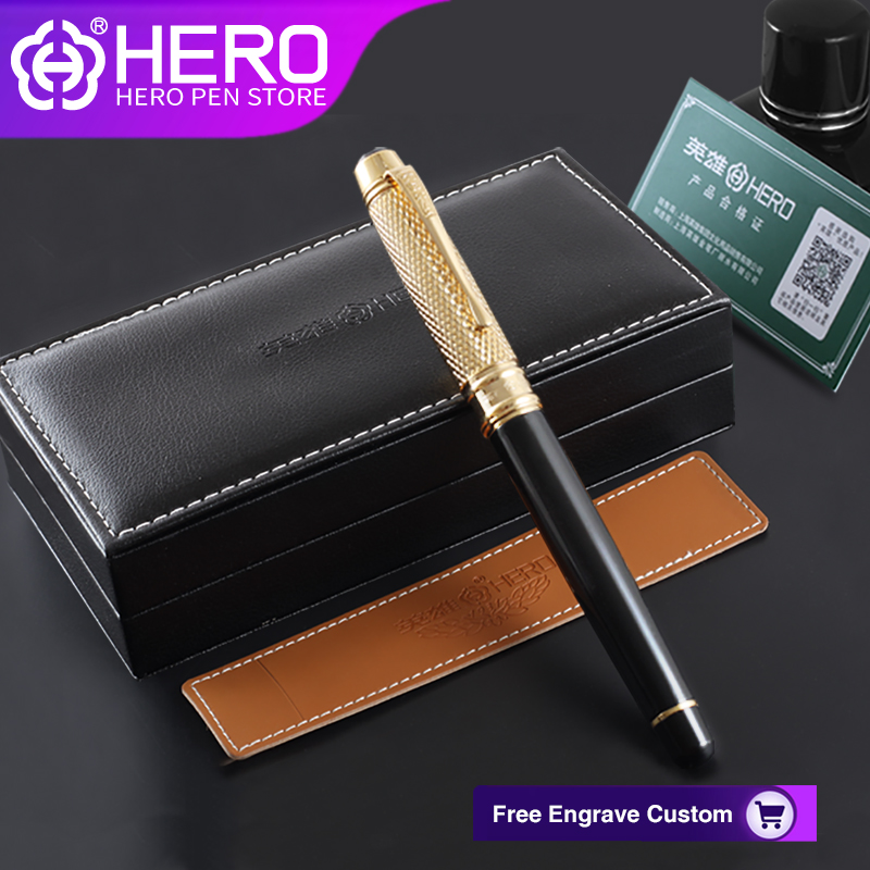 цена Hero Fountain Pens Original Authentic Writing Stationery Office Supplies Different Iraurita Smooth Writing Pens 1322