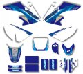 New Style TEAM  GRAPHICS&BACKGROUNDS DECAL STICKERS Kits For HONDA CRF50 CRF50F 2004-2012 (Blue/White)