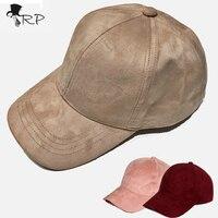 2016 מותג אופנה רחוב כובע נשים כובע בייסבול snapback Gorra כובעי היפ הופ כובעים לנשים זמש שחור גריי בייסבול כובע