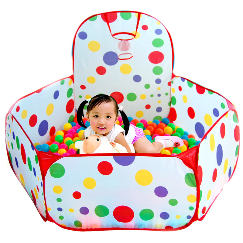 Kids Ocean Ball Pit Pool Game Play Tent Folding Playpen Tent House Playing  Pool With Ball Hoop Children Outdoor Fun Sports Toys