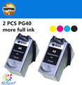 Бесплатная Доставка, 2 pcst Pg-40 Картридж для CANON PG40 + pg 40 для Canon PIXMA IP2500 IP2600 MX300 MX310 MP160 MP140 MP150