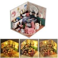 New 3D Dollhouse Miniature Kit FAI DA TE Casa Inverno Canzone Assemblea Casa Modello Handmade Di Puzzle Giocattolo Per L'apprendimento Giocattolo Educativo