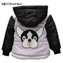 KEAIYOUHUO/весенняя куртка с вышивкой собаки для маленьких мальчиков и девочек; детская одежда; детская верхняя одежда с капюшоном; пальто; куртки; Рождественский Костюм