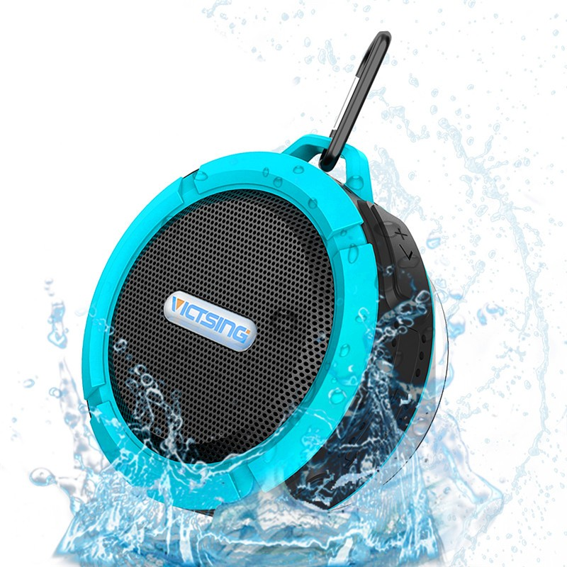 Wireless Bluetooth Speaker Waterproof Handsfree 5W Portable Speakers Phone Soundbox With Mic Removable Suction Cup New