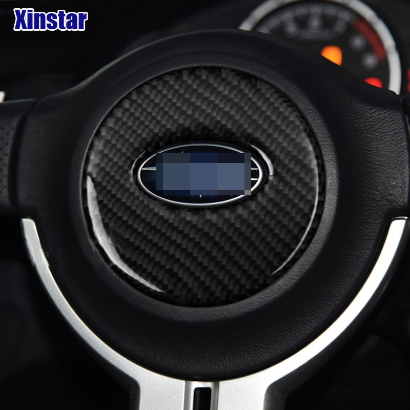 Real Carbon Fiber car steering wheel sticker car interior ...