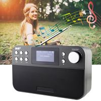 Portable 2.4 Inch Digital Radio Music Speaker Support FM + DAB Radio With LCD Digital Clock Snooze Alarm Function Home Decor