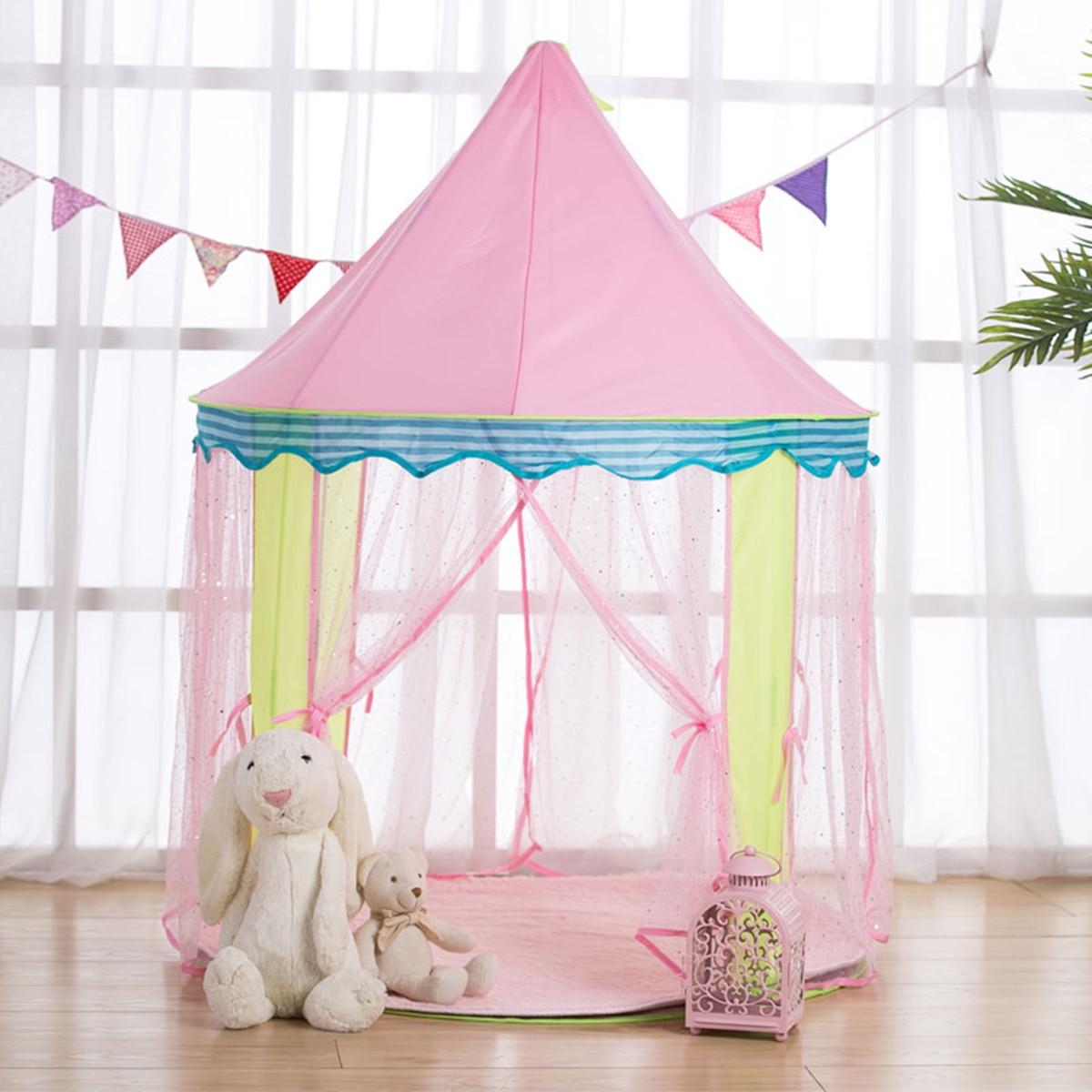 Portable pliable princesse pliant bébé jouet tentes enfants château activité jouer maison enfants cadeau en plein air Fun plage tente pour les enfants