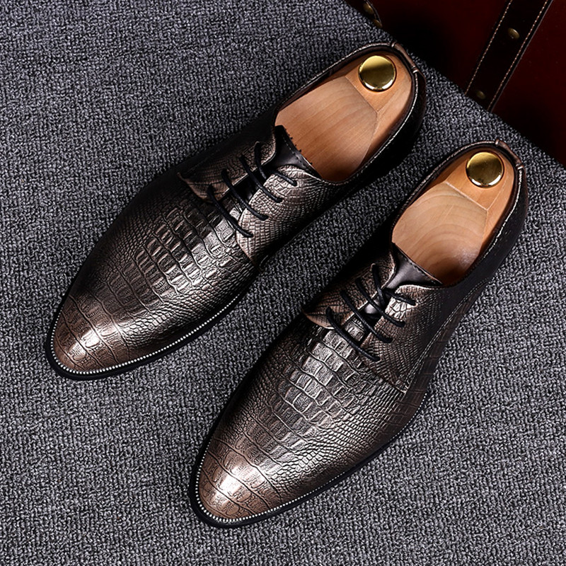 2017 New Fashion Italian designer formal mens dress shoes genuine leather Lace-Up Business Wedding Formal Flats High Quality fashion top brand italian designer mens wedding shoes men polish patent leather luxury dress shoes man flats for business 2016