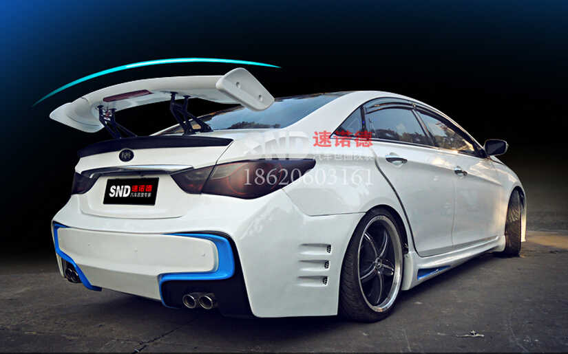 Primer Car Rear Trunk lid Spoiler AERO WING Diffuser For GT ALL Sedan Universality Fast by EMS (with lamp)