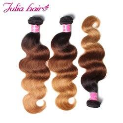 Mèches brésiliennes naturelles Body Wave-Ali Julia Hair, extensions capillaires Remy, 16 à 26 pouces, couleur ombré 1B427