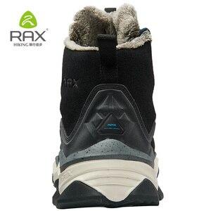 Image 4 - RAX Hiking Boots Men Waterproof Winter Snow Boots Fur lining Lightweight Trekking Shoes Warm Outdoor Sneakers Mountain Boots Men
