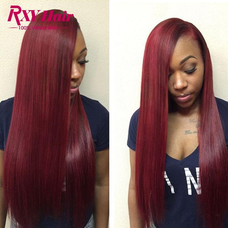 7a Brazilian Virgin Hair Straight 3 Bundles Burgundy
