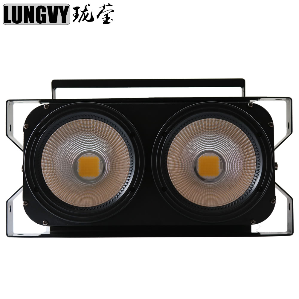Free Shipping Theater Light COB 2x100W White or Warm White 2in1 COB DMX LED Blinder Stage Light