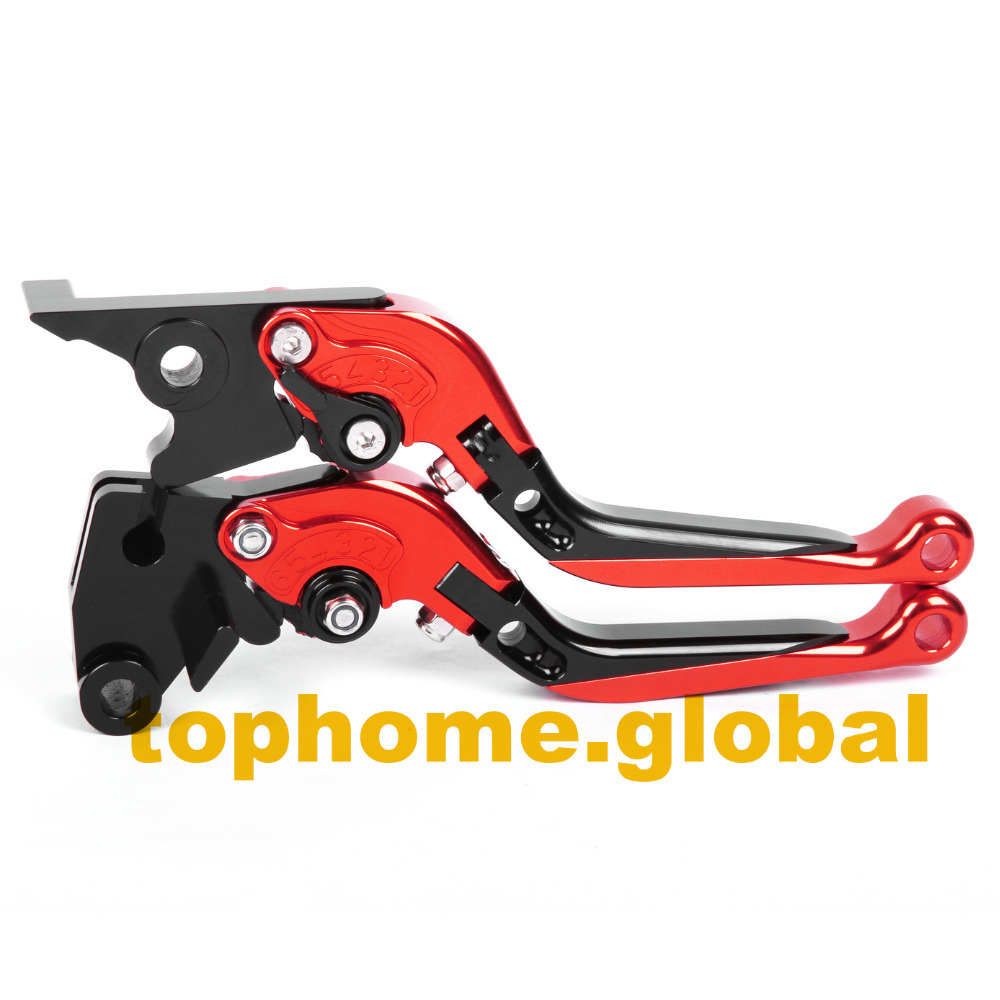Red&Black Motorbike Accessories CNC Foldable&Extendable Brake Clutch Levers For Honda CB900 Hornet 2002-2006 2002 2003 2004 2005