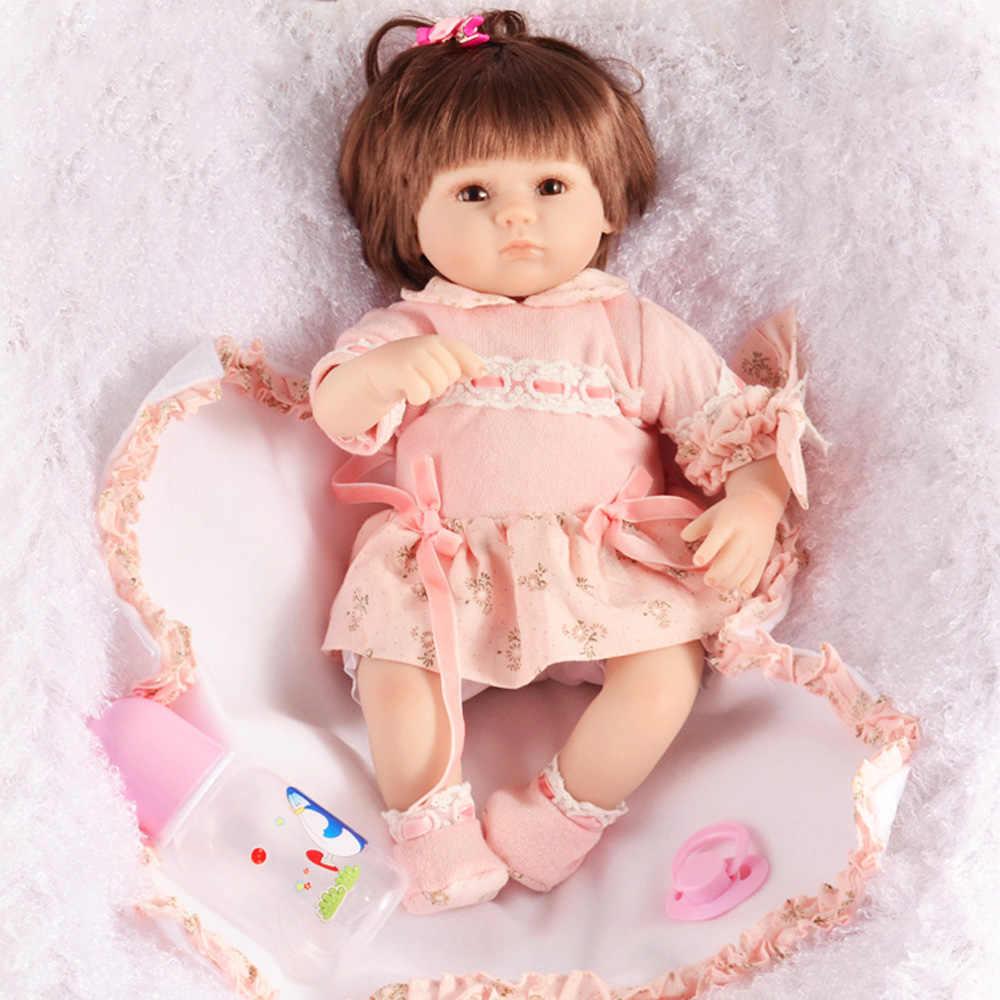 LEOOFU 18 بوصة نابض بالحياة الجسم نموذج تولد من جديد الطفل دمى الفتيات اللعب عالية الجودة بيبي تولد من جديد ألعاب الدمى الراتنج أنيمي هدية الكريسماس