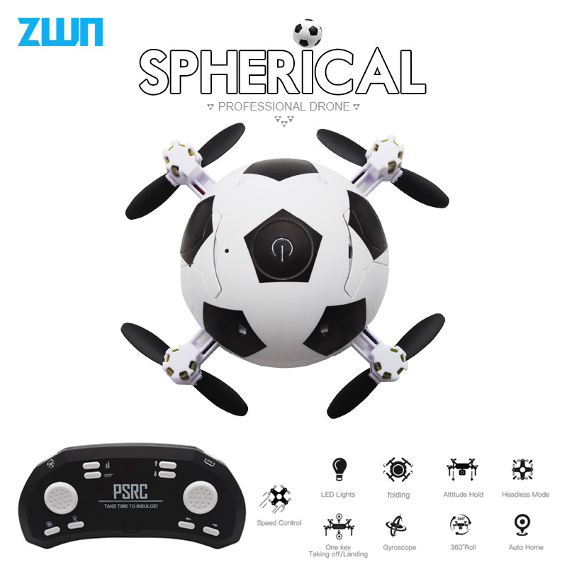 Mini Dron Football Quadcopter Foldable Drone 3D Flips One Key Take Off Headless Mode RC Helicopter Kids Gift Toy vs E010 S9Mini Dron Football Quadcopter Foldable Drone 3D Flips One Key Take Off Headless Mode RC Helicopter Kids Gift Toy vs E010 S9