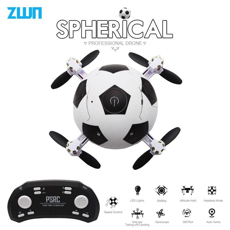 Mini Eders Fußball Quadcopter Faltbare Drone 3D Flips Ein Schlüssel Nehmen Off Headless Modus RC Hubschrauber Kinder Geschenk Spielzeug vs e010 S9