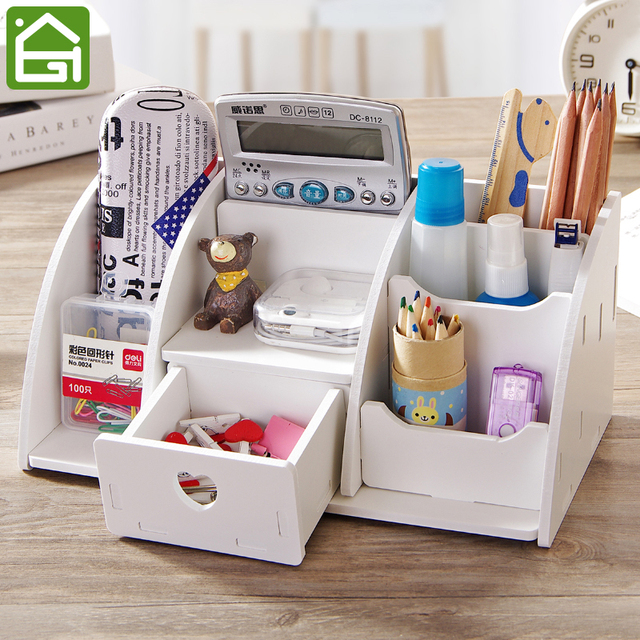 Large Desk Organizer Remote Control Holder Home Office Desk Drawer Makeup  Storage Box Stationery Cosmetic Organizer