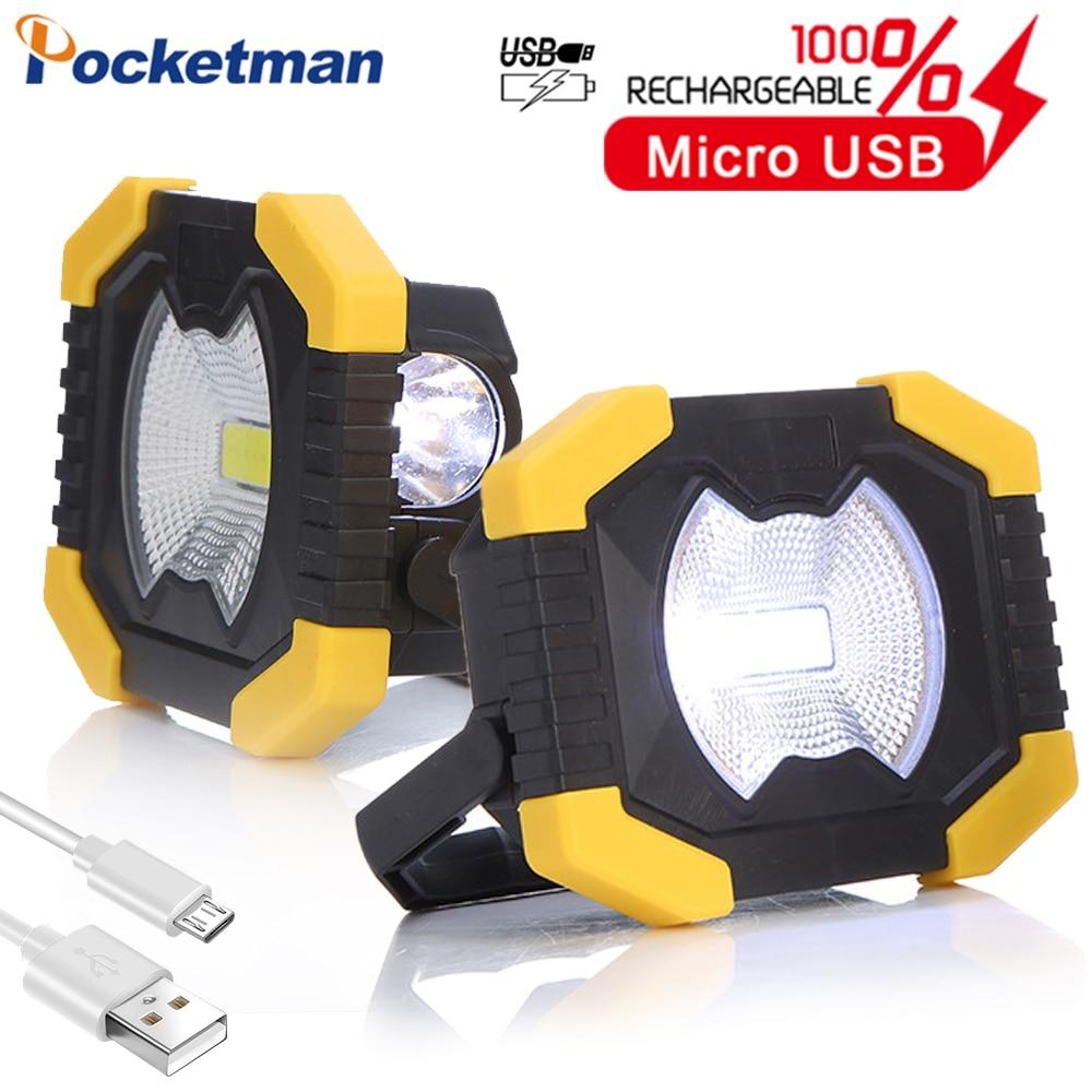 100W Portable Spotlight Work Light USB Rechargeable Flashlight Solar Energy Light Built-in 2400mAh Battery For Hunting Camping