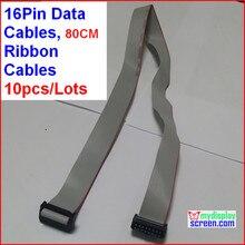 16pin кабель для передачи данных, Из светодиодов ленты кабель, 80 см из светодиодов дисплей модуль кабель, Длина может быть настроена