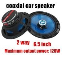 a pair Blue car audio speaker sound system best selling high qualtiy 6.5 inch Car speaker 2 way 2x120W Coaxial Car Speaker