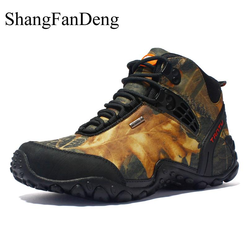 New Casual Shoes Spring Waterproof Hiking Non Slip Men Shoes Breathable Camouflage Sneakers High Quality Male
