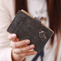 New Credit Card Holder Lady Women Travel Passport Holder Porte Carte Pu Leather Card Holder Buckle Business Id Card Holder T8146