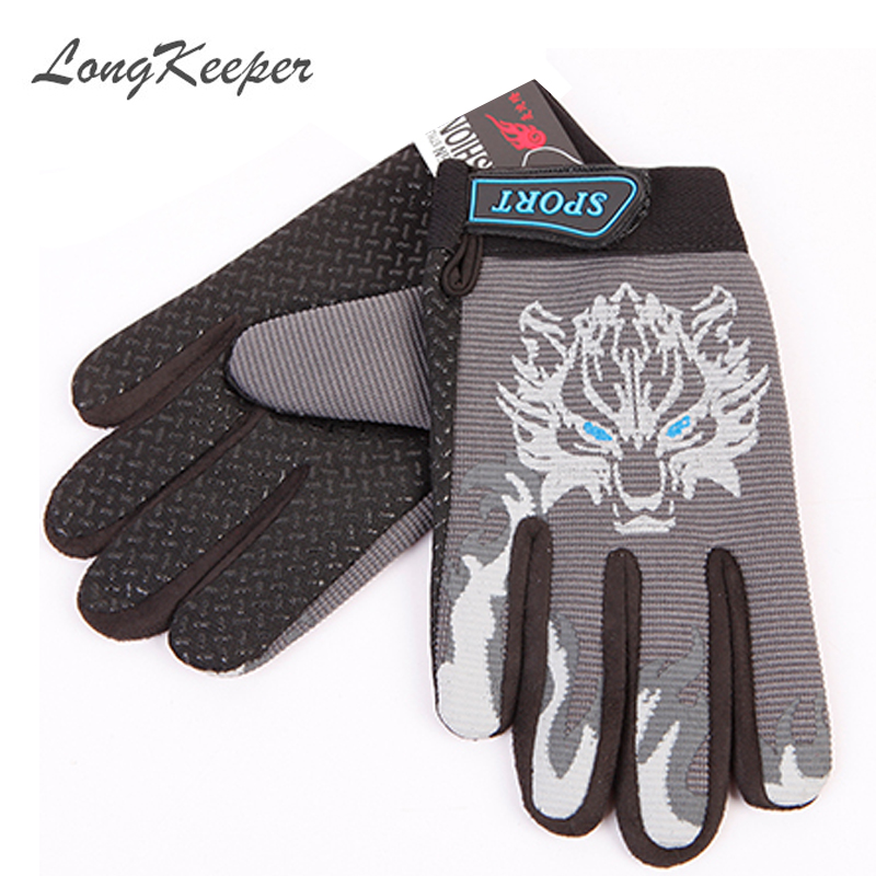 새로운 스포츠 장갑 전체 손가락 늑대 인쇄 장갑 - 의류 액세서리 - 사진 5