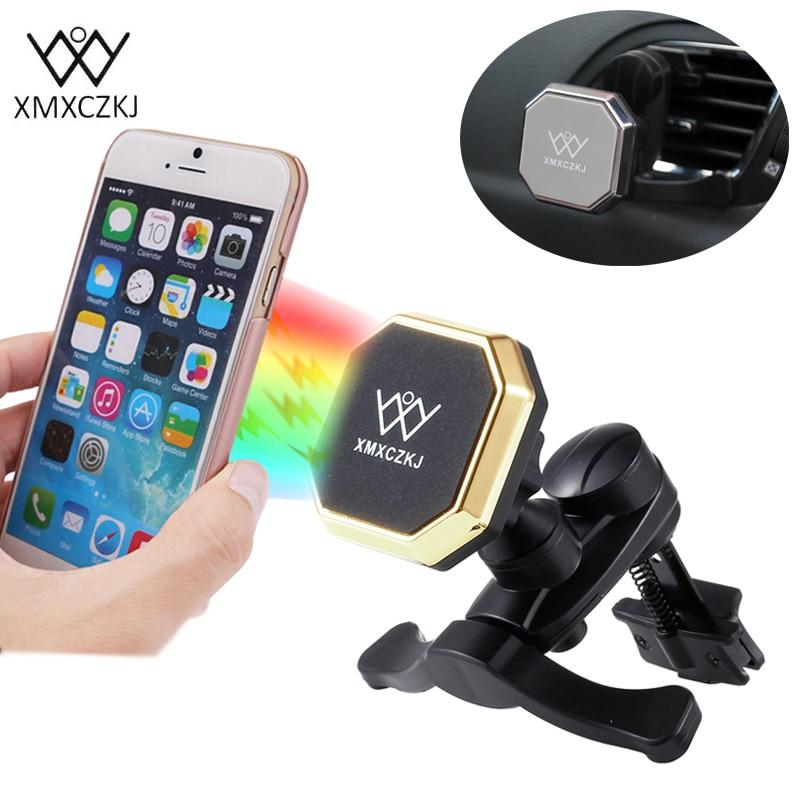 XMXCZKJ Univerzální 360 stupňů Otočný držák vzduchu Větrací držák Kolébka Magnetický držák Magnetický držák pro iPhone Samsung Xiaomi