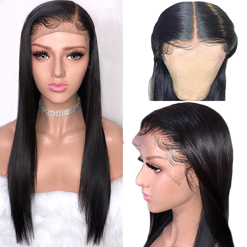 Brazilian Straight Lace Front Human Hair Wigs 13x4 Inch Remy Hair Wigs For Black Women Lace