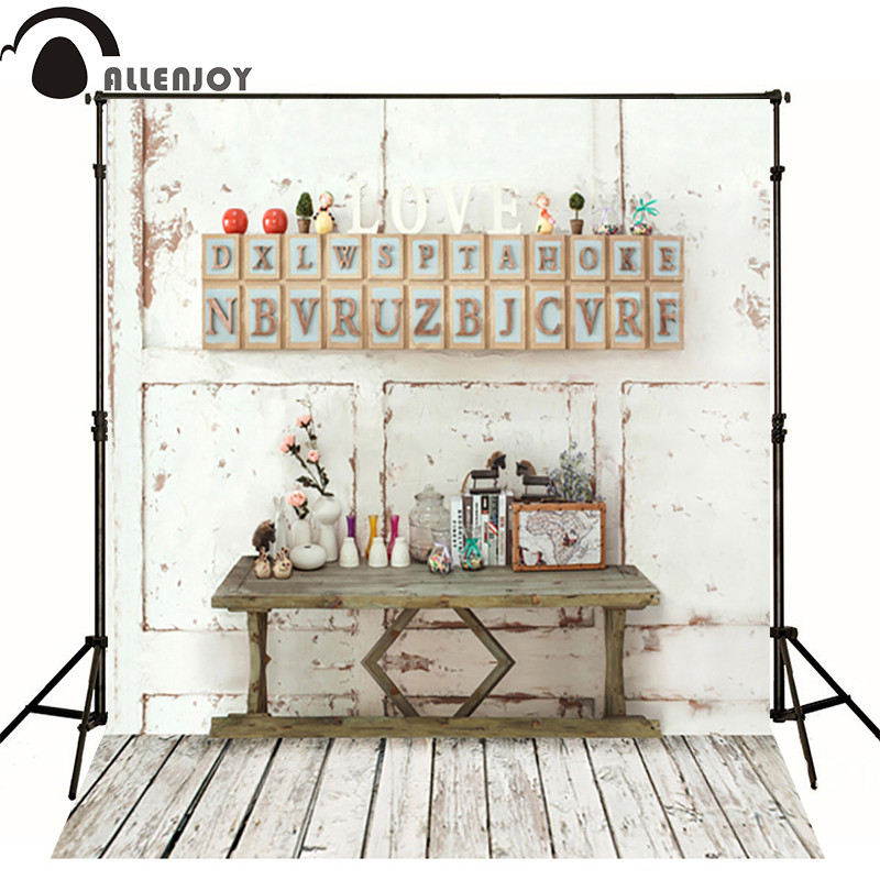300*600cm(10ft*20ft) background studio Wooden wall letters LOVE photography backdrops