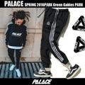 Moda Lazer Calças BASCULADOR Hip Hop União Cordão Palácio Triângulo Palacio Outono Moletom Homme Ms Palácio Moletom
