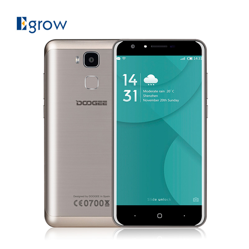bilder für Ursprüngliche Doogee Y6 MTK6750 Octa-core Android 6.0 Handy 5,5 zoll 3200 mAh Handy 2G RAM 16G ROM 4G Entsperren Smartphone