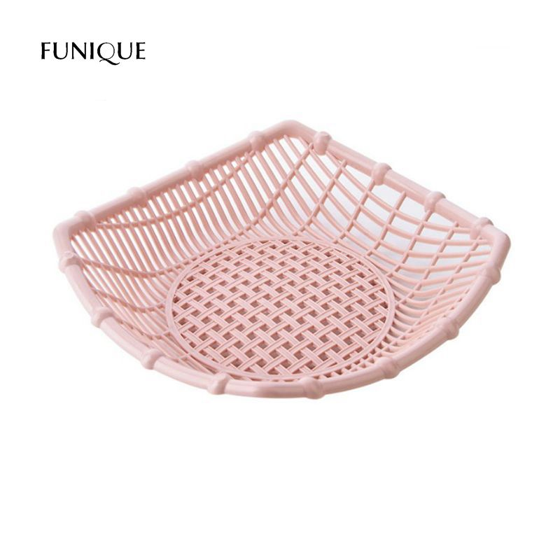 FUNIQUE Creative Hollow Fruit Basket Living Room Plastic Snack Tray ...