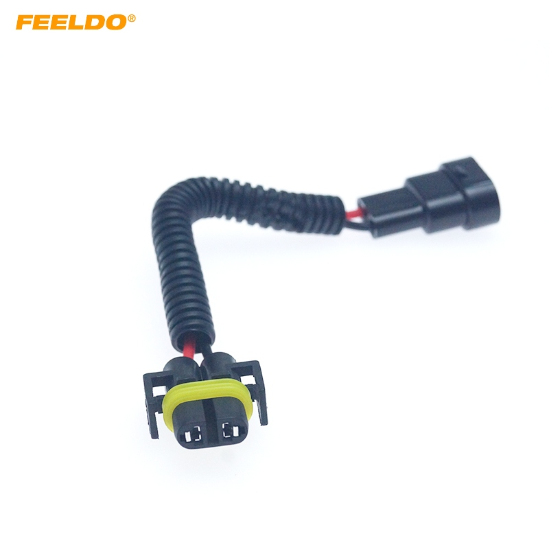 FEELDO Auto Bulb Lamp Socket Adapter 9005/9006/9012 Female To H11 Male LED HID Headlight Wiring Cable Connector Plug #6093