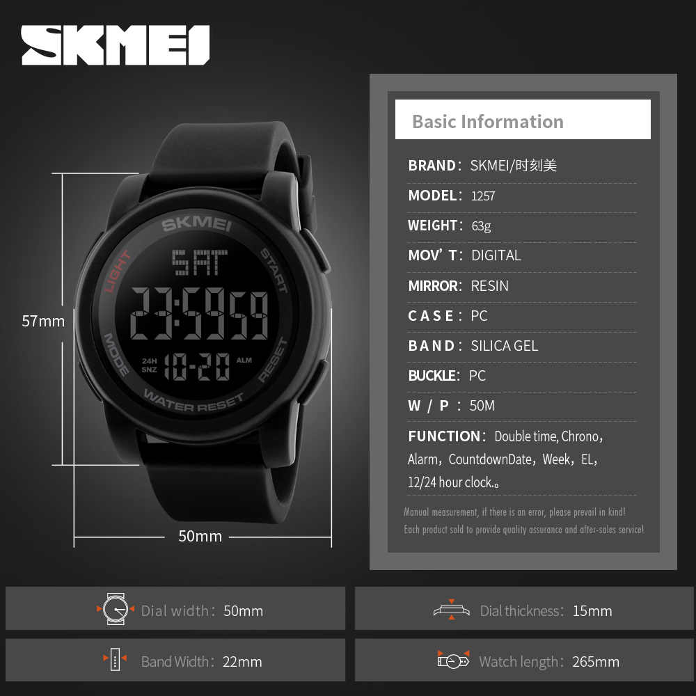 1ff5c1351655 ... SKMEI Top Brand Men s Watches Casual LED Digital Watch Male  WristWatches Waterproof Sport Watches Clock Relogio