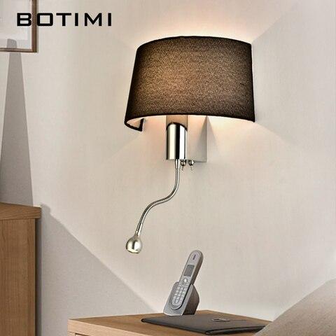 botimi moderno conduziu a luz da parede com tecido abajur para o quarto de cabeceira