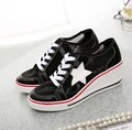 women summer breathable mesh shoes casual big size hollow white wedges shoes