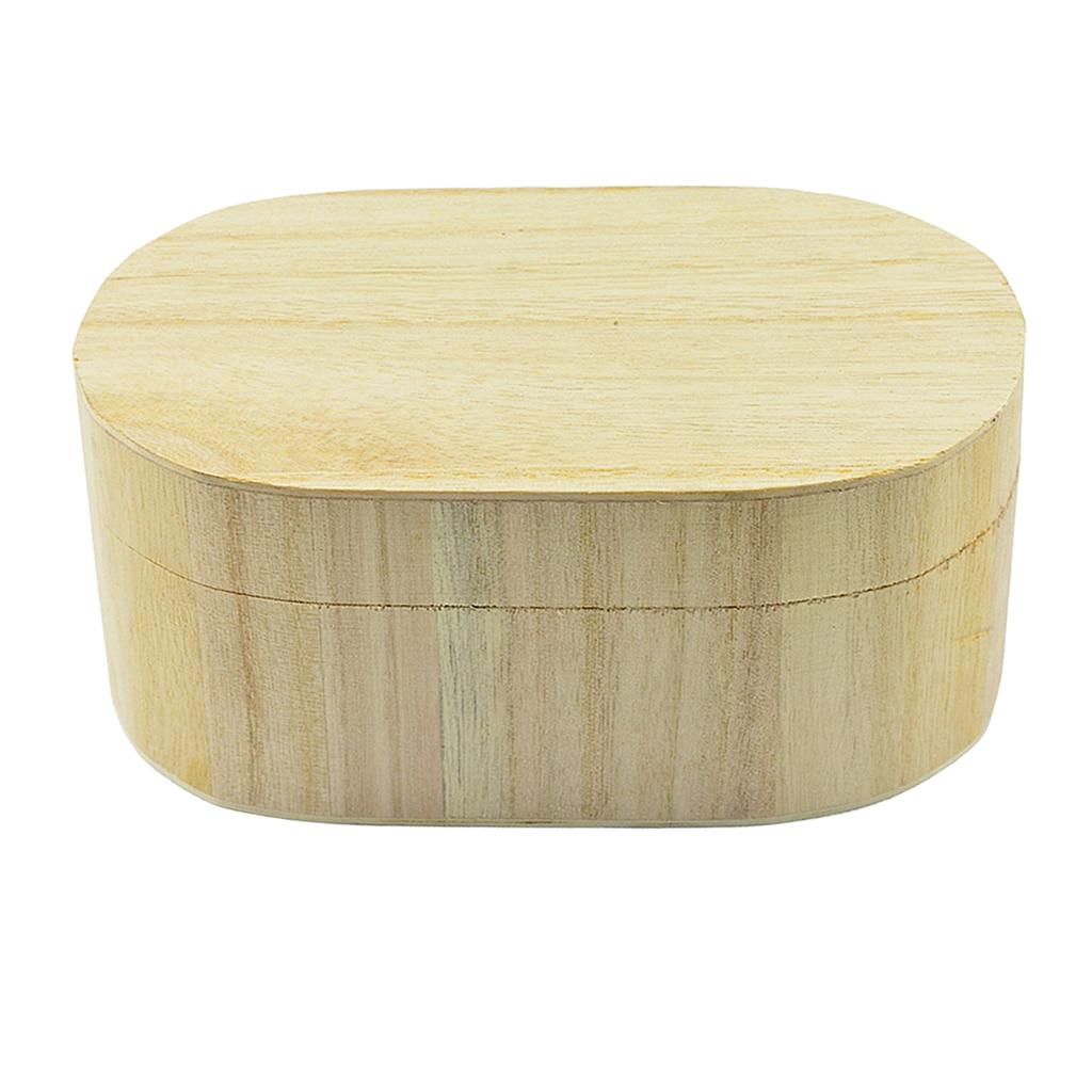 Forma oval de madera sin terminar de madera llano regalo de la ...