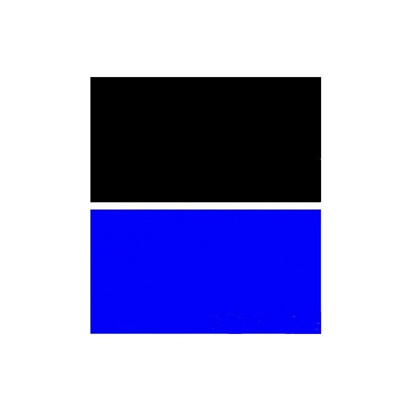 Trasporto Libero 15 Metriroll Double Sided Acquario Sfondo Blu