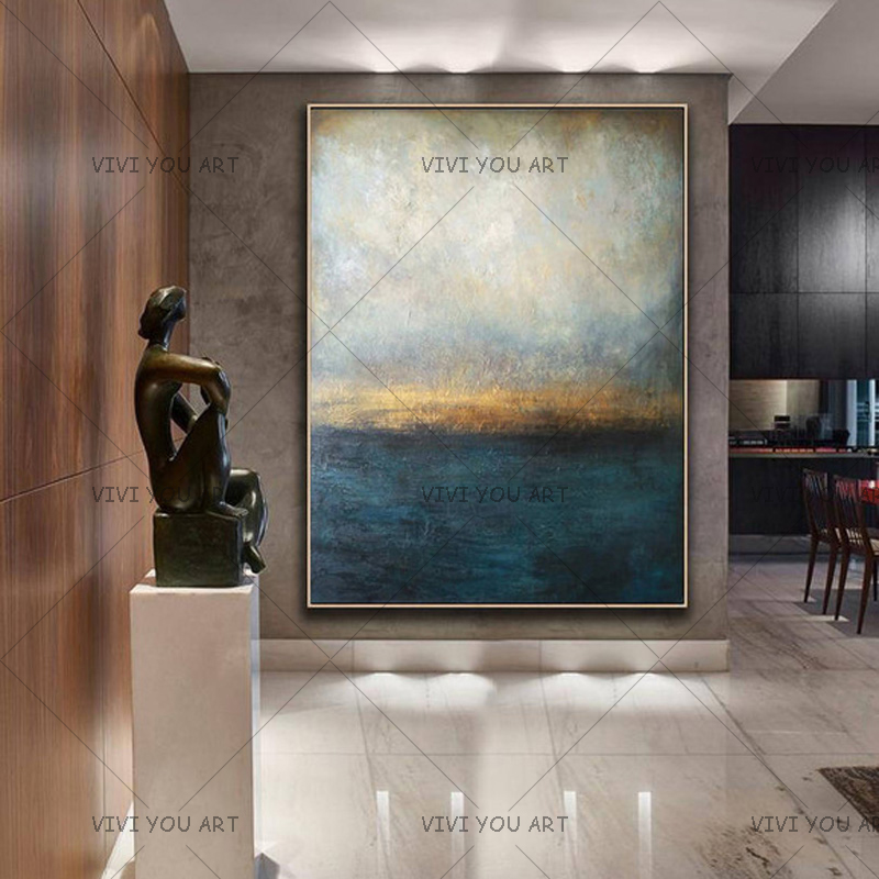 New Decorative Art 100% Handmade Oil Painting On Canvas Modern Abstract Landscape Wall Picture Paintings Living Room DecoracionNew Decorative Art 100% Handmade Oil Painting On Canvas Modern Abstract Landscape Wall Picture Paintings Living Room Decoracion
