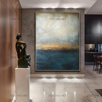 New Decorative Art 100% Handmade Oil Painting On Canvas Modern Abstract Landscape Wall Picture Paintings Living Room Decoracion