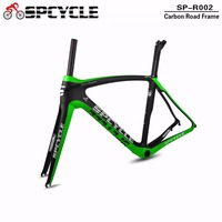 Spcycle T800 Road Carbon Bike Frames,China OEM Full Carbon Aero Cycling Frames, BB386 Bicycle Racing Frame with Fork, Seatpost