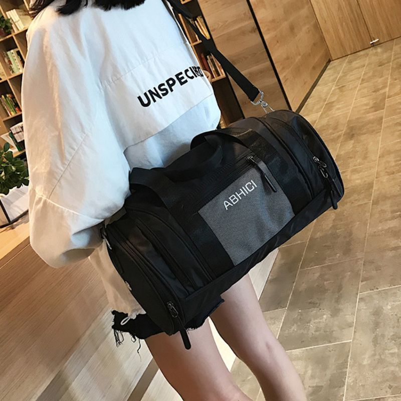 Sports Gym Bag With Wet Pocket & Shoes Compartment Large Capacity Fitness Training Travel Shoulder Bags For Women Men