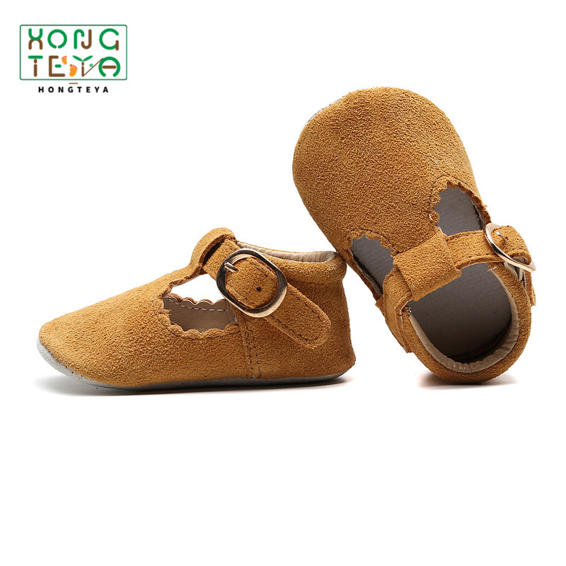 Baby Shoes Genuine Leather T-bar Mary Jane Infants Toddler Baby Princess Ballet Shoes Newborn Crib Shoes Soft Sole