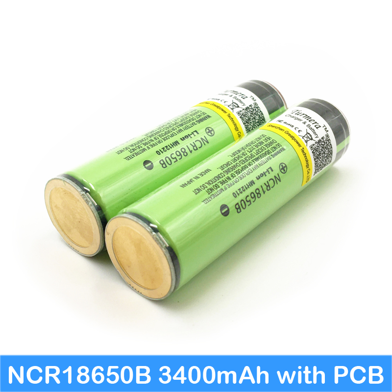 18650 3400mah ncr18650b protected New Original 18650 3.7v 3400mah Lithium Rechargeable Battery for head flashlight