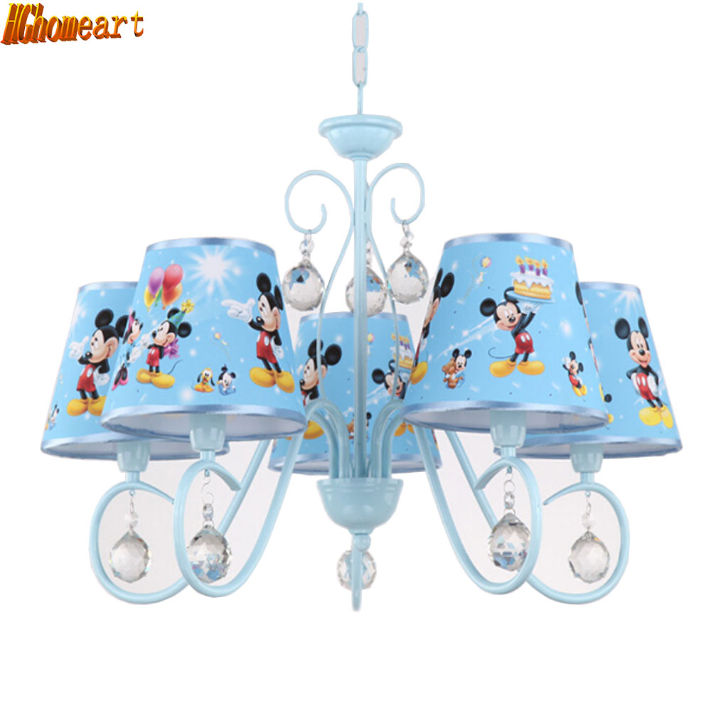 HGhomeart Kids Room with Chandelier American Simple Princess Cartoon Chandelier Living Room Bedroom Ceiling Chandeliers hghomeart cartoon kids room chandelier led luminaria room iron chandelier lighting creative eye bird chandeliers for the bedroom