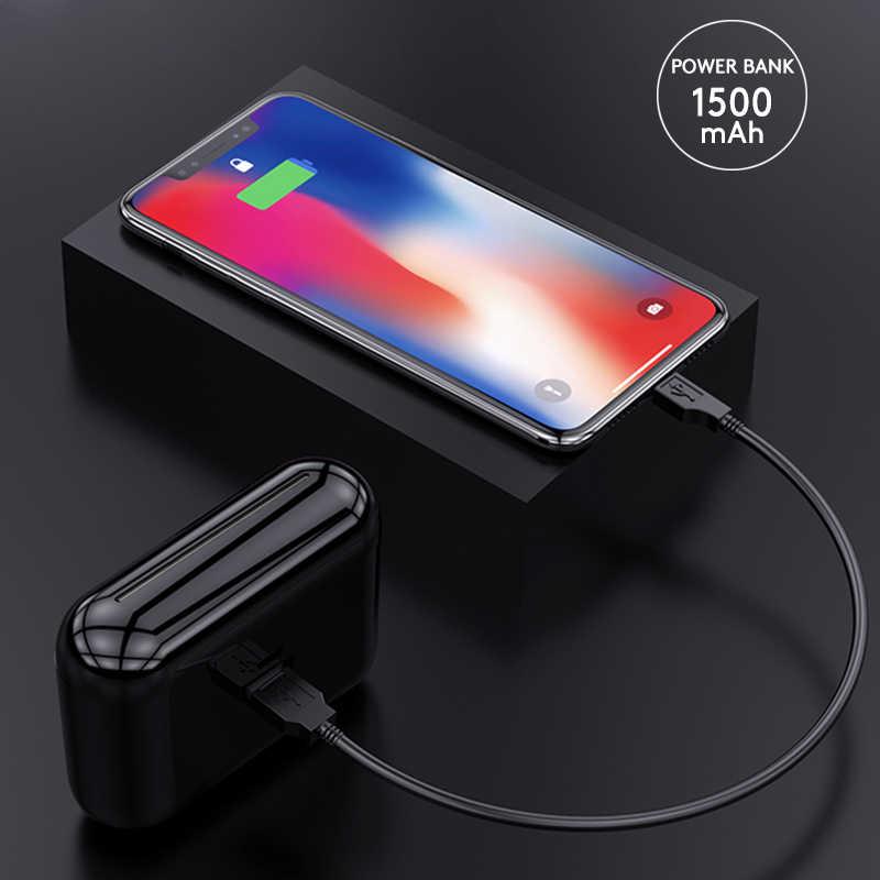 HBQ TWS słuchawki Bluetooth V5.0 słuchawki douszne z IPX5 wodoodporne stereo zestaw słuchawkowy