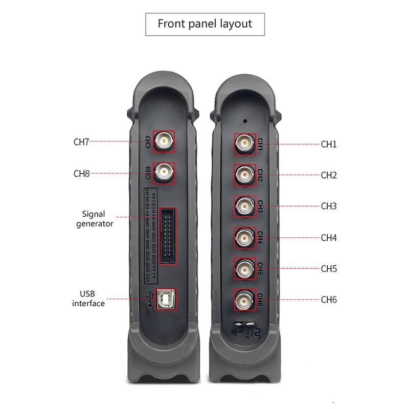 Image 4 - Hantek oscilloscope 1008C  portable USB oscilloscope 8 Channels Program Generator Automotive CAR Oscilloscope PC Osciloscopio-in Oscilloscopes from Tools