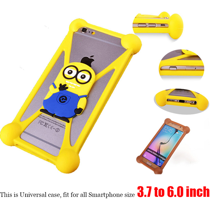 Cute Cartoon Minion Silicone Cover For iPhone 5S 6 6S Plus For Samsung Galaxy Express 2 G3815 Win Pro G3812 G3818 Universal Case